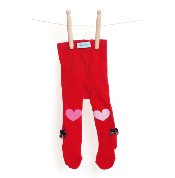 Lilly + Sid™ Baby Girl Red Tights